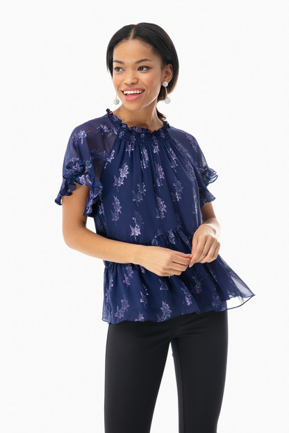 metallic star top