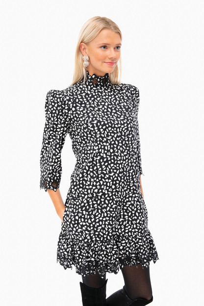 Long Sleeve Jaguar Embellished Dress