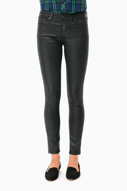 Super Black Leatherette Legging Ankle