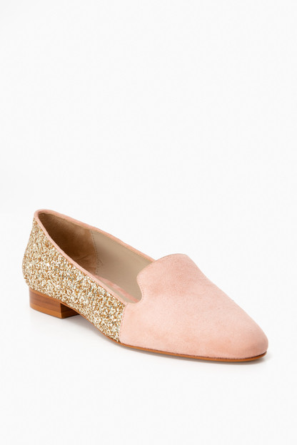 Glitter Corail Loafers