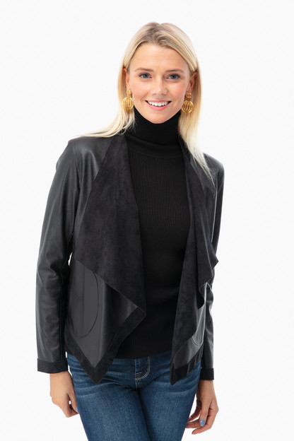 vegan leather teagan jacket