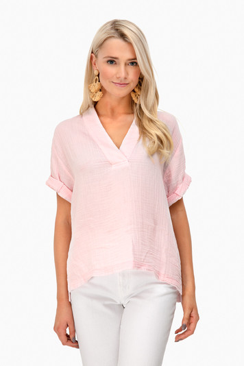 pink avery top