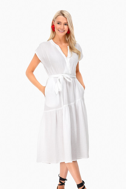 white drue dress