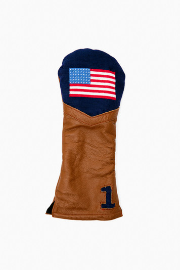 american flag needlepoint driver headcover