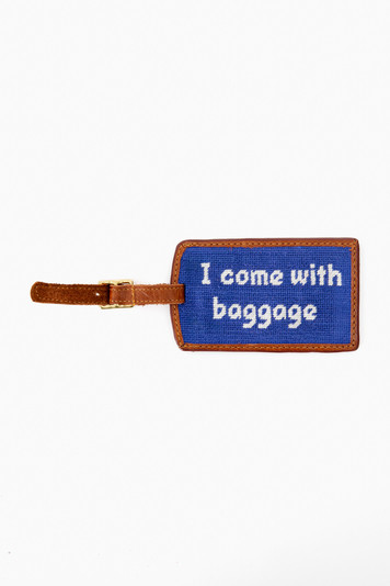 baggage needlepoint luggage tag