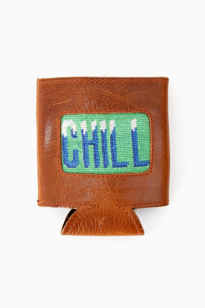 chill needlepoint can cooler