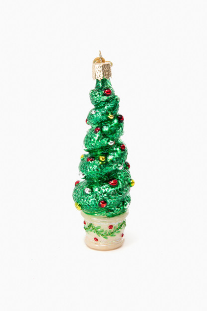 holiday topiary ornament