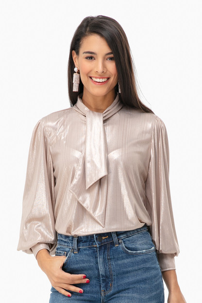 champagne stanley blouse