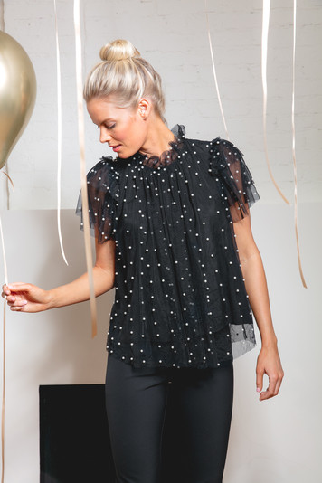 oyster pearl blair top