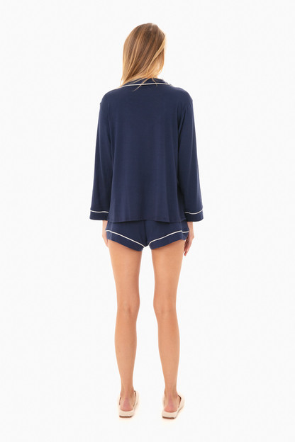 gisele long sleeve short pj set