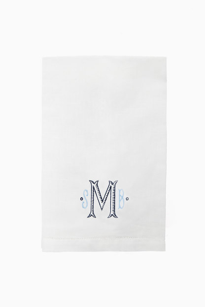 Hemstitched Guest Towel Monogrammed items take 7-10 business days to ship.