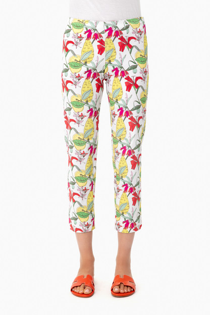 green flowers georgie crop pant
