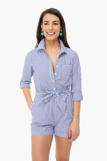sarah striped romper