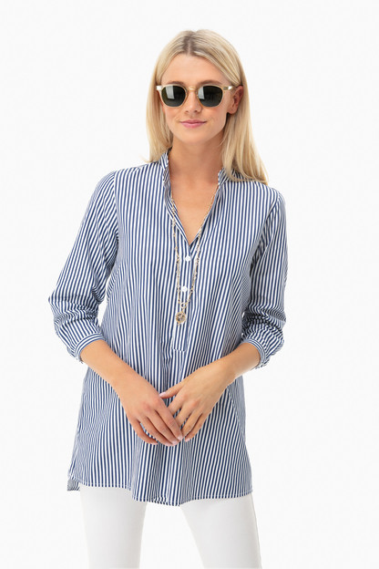 navy derrington tunic