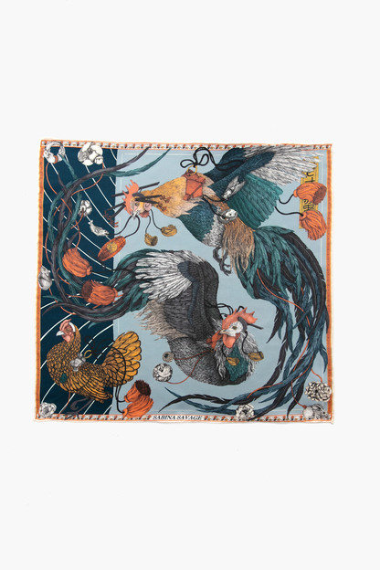 denim rooster's dance neckerchief