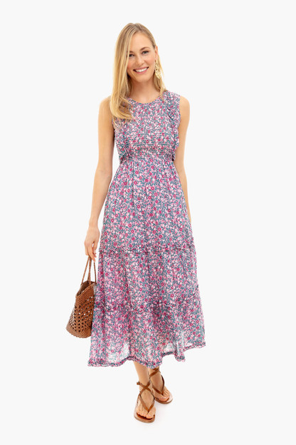 wild rose scatter floral isha dress