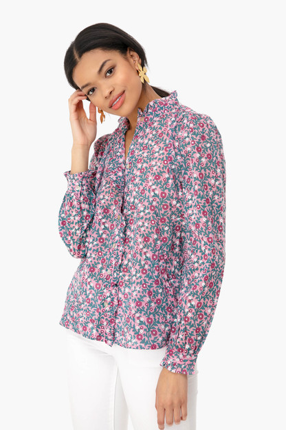Wild Rose Scatter Floral Chrissie Shirt