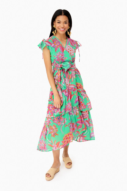 green flamingo rhododendron island mercy dress