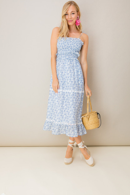 white floral luna dress