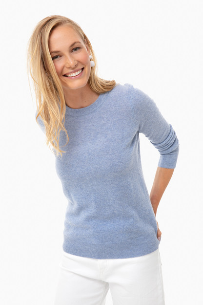 baltic heather essential cashmere crewneck sweater