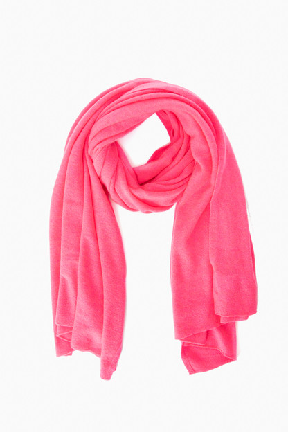neon candy heather cashmere travel wrap