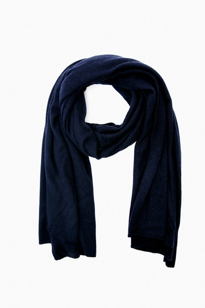 deep navy cashmere travel wrap