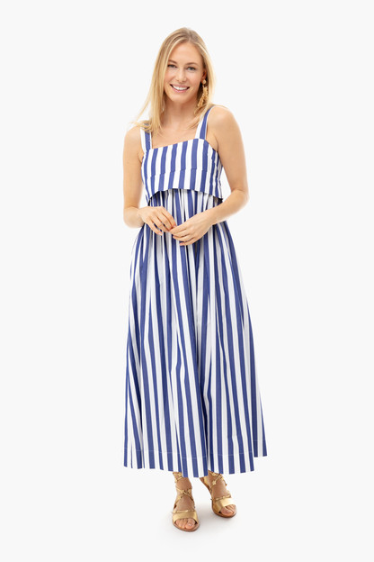 blue striped isabelle dress