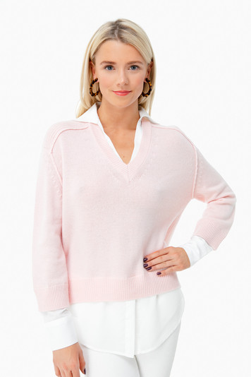 paloma v-neck layered pullover