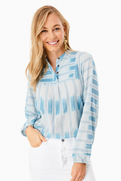 blue coed blouse