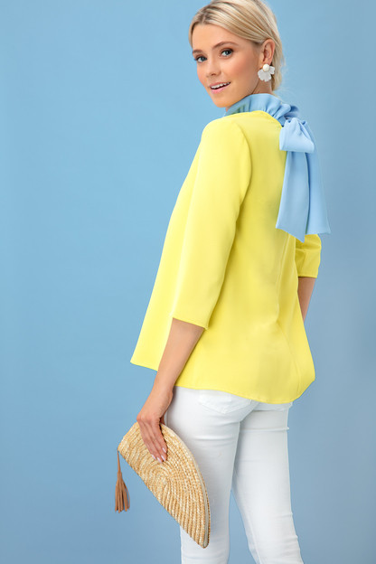 yellow color block faye blouse