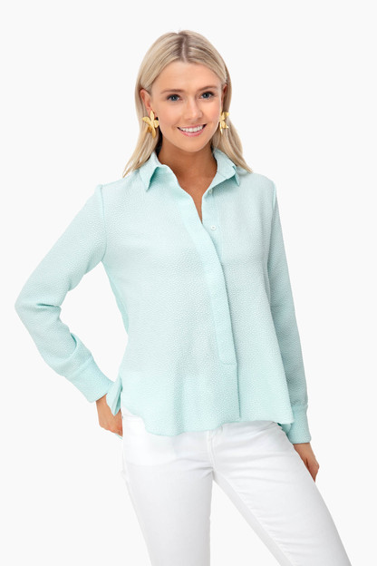 sea glass adele crepe blouse