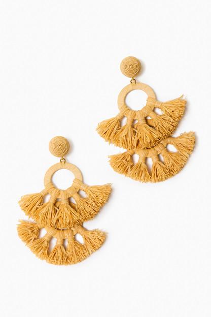 raffia tango earrings
