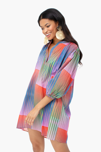 illusion kaftan dress