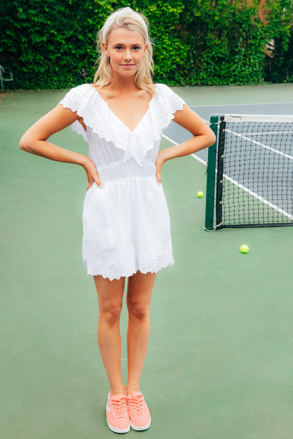 embroidered linen romper