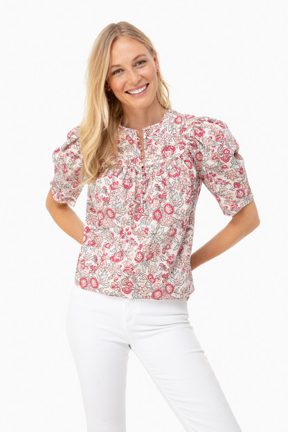 light nectar short sleeve falaise top