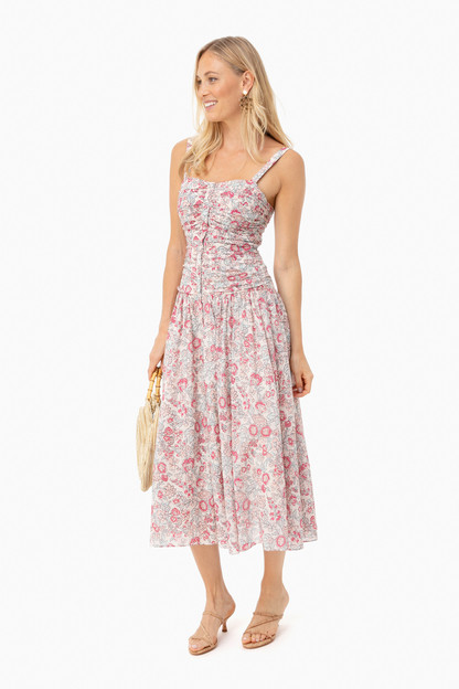 light nectar sleeveless falaise dress