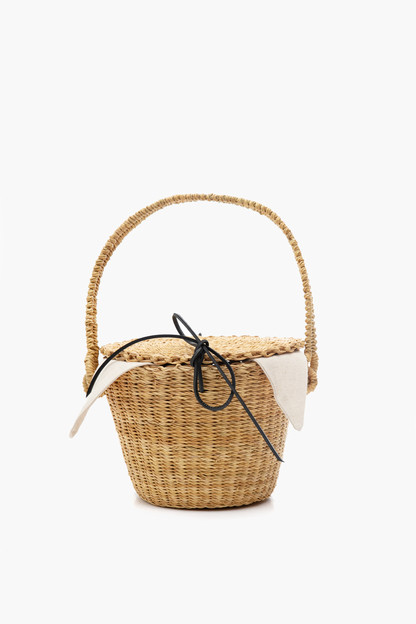 cotton lou straw bag