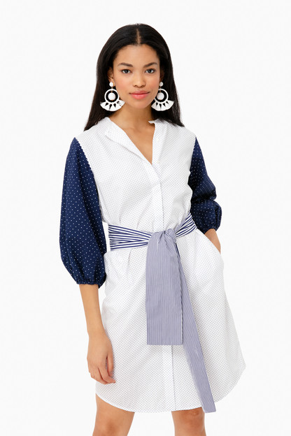 alexa two-woven shirt dress