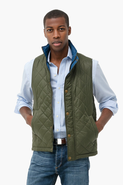 olive ampleforth gilet