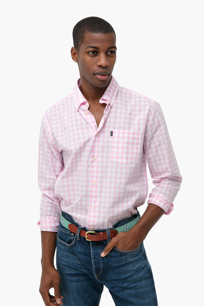 gingham tailored shirt