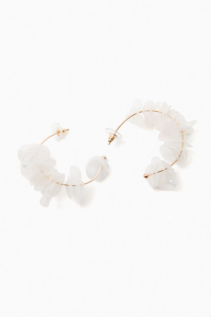 White Lolita Mini Hoops