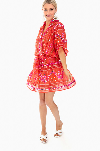tribal blouson dress