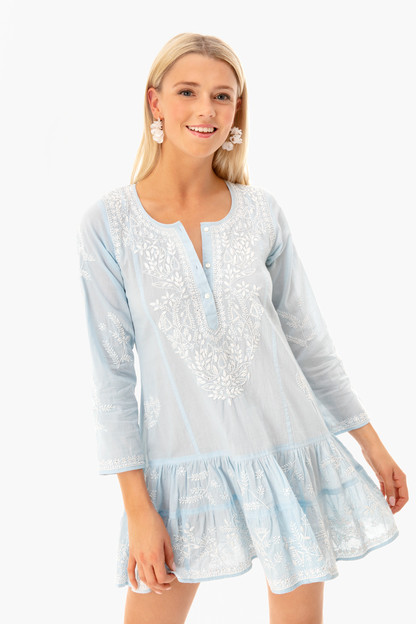 light blue lotus beach dress