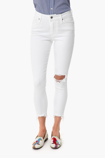 iced out 721 high rise skinny ankle jean
