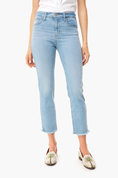 Perfect Mistake 724 High Rise Straight Crop Jean