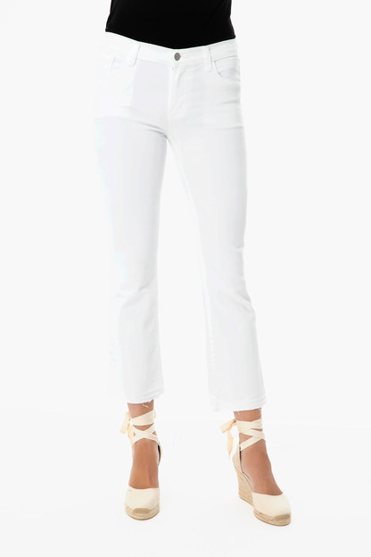 white selena crop boot