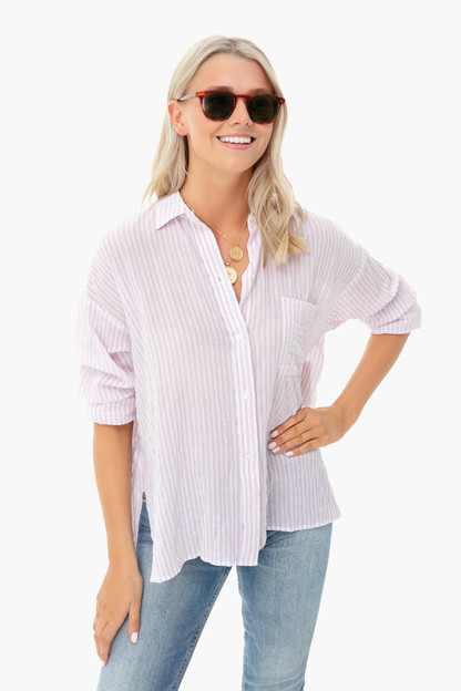 orchid bar stripe shirt