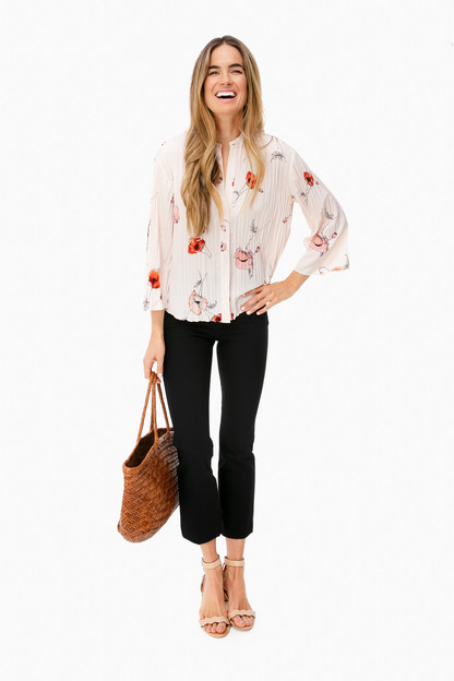 poppy pleated blouse
