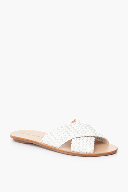 claudie woven crossed plank slides
