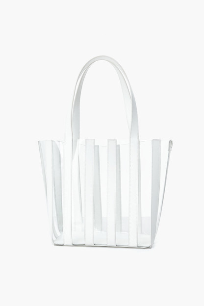 white marlena pieced tote